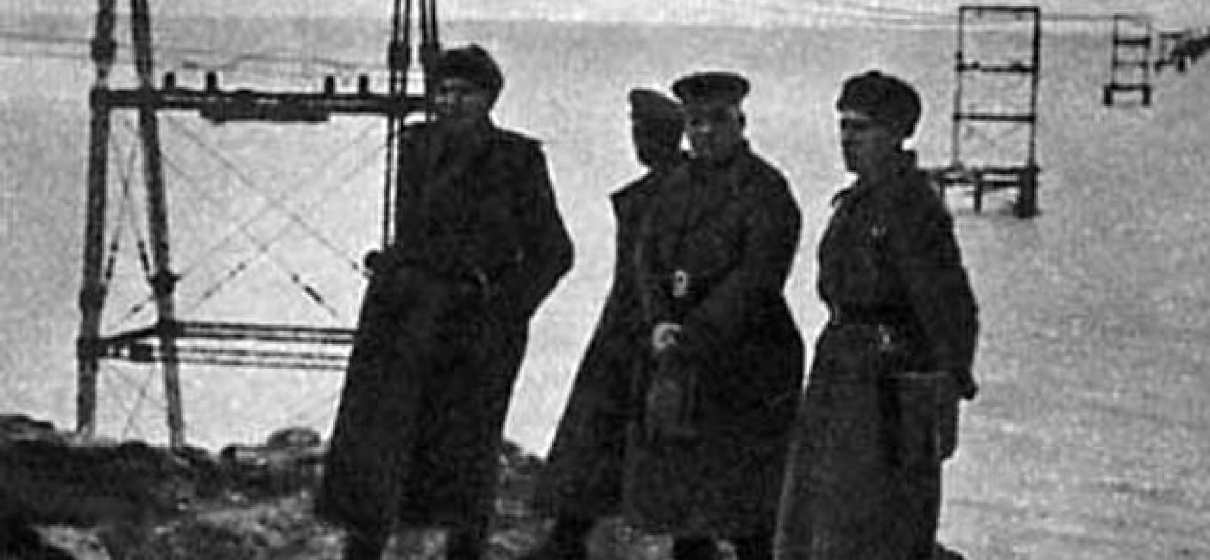 Канатная дорога через Керченский пролив. 1944