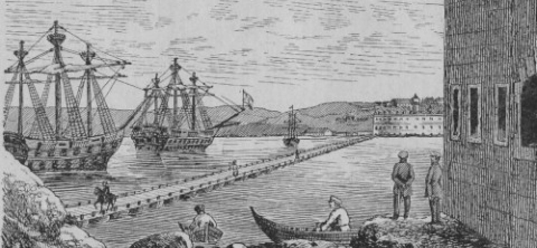 Понтонный мост через Севастопольскую бухту