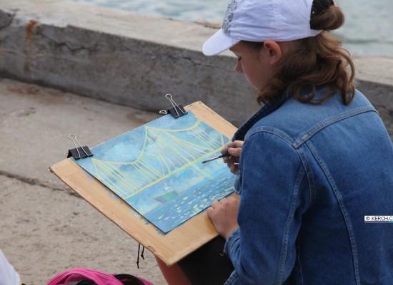 Керченский мост глазами юных художников!