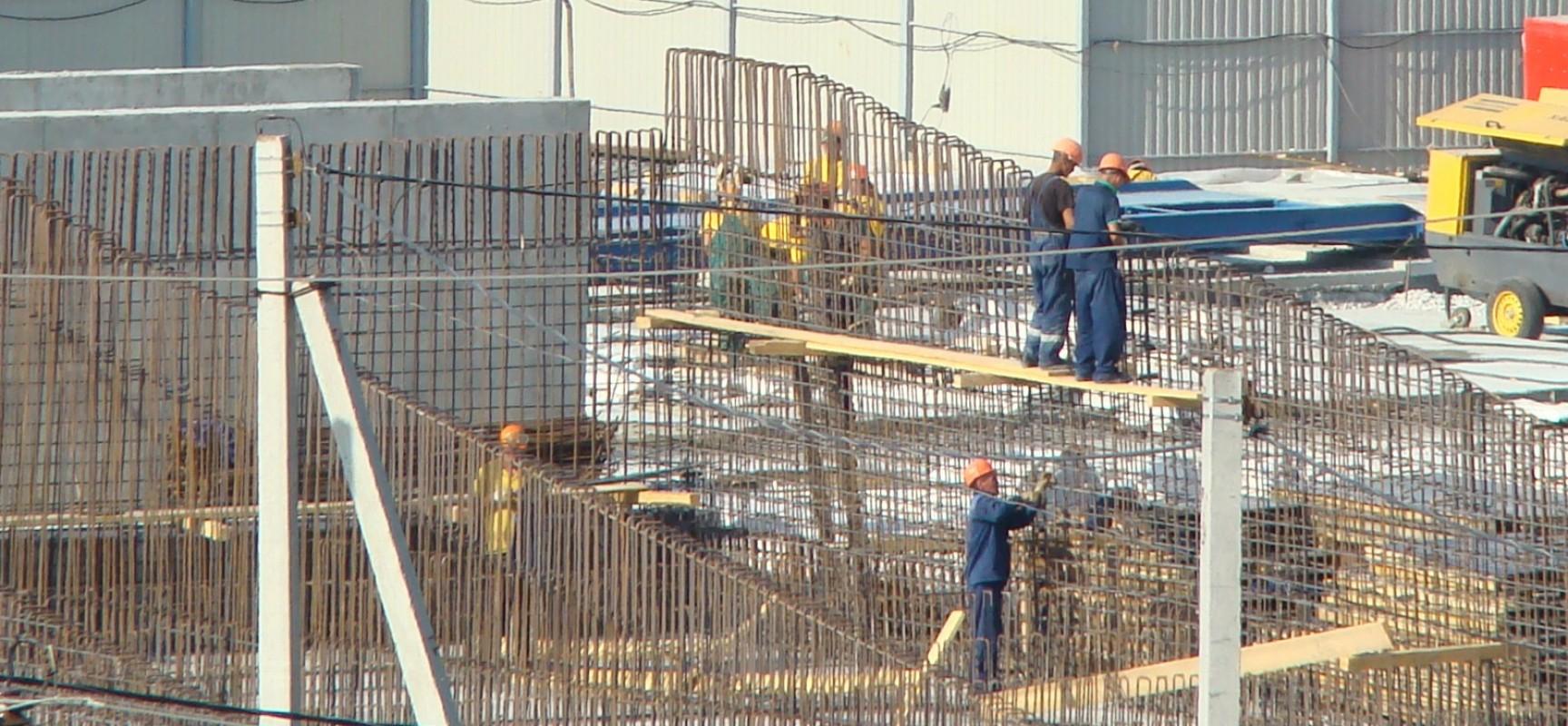 Работы на цементной слободке, август 2015