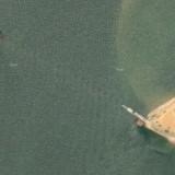 Керченский мост, вид со спутника