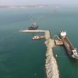 Рабочий мост через керченский пролив вид с высоты, видео