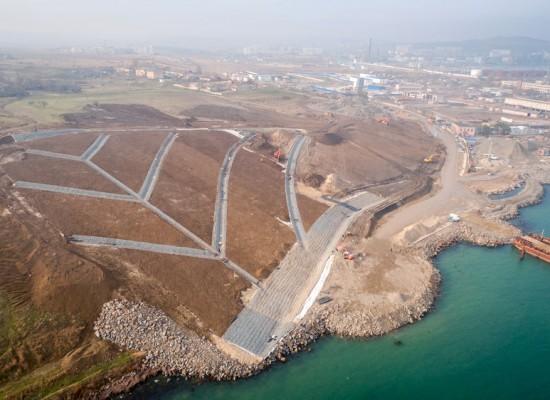 Строители моста через Керченский пролив обезопасили участок будущего строительства от возможных оползневых процессов