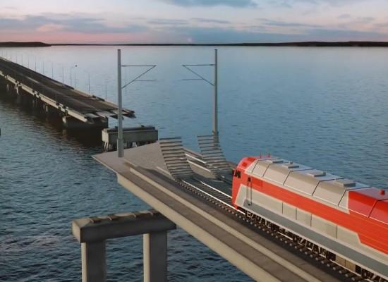 Строительство железнодорожного подхода к Керченскому мосту со стороны Крыма планируется начать в середине 2016 года