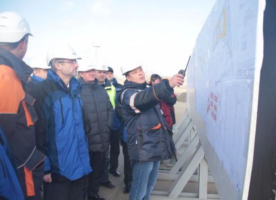 Первый замминистра транспорта Евгений Дитрих проинспектировал ход подготовки к строительству моста