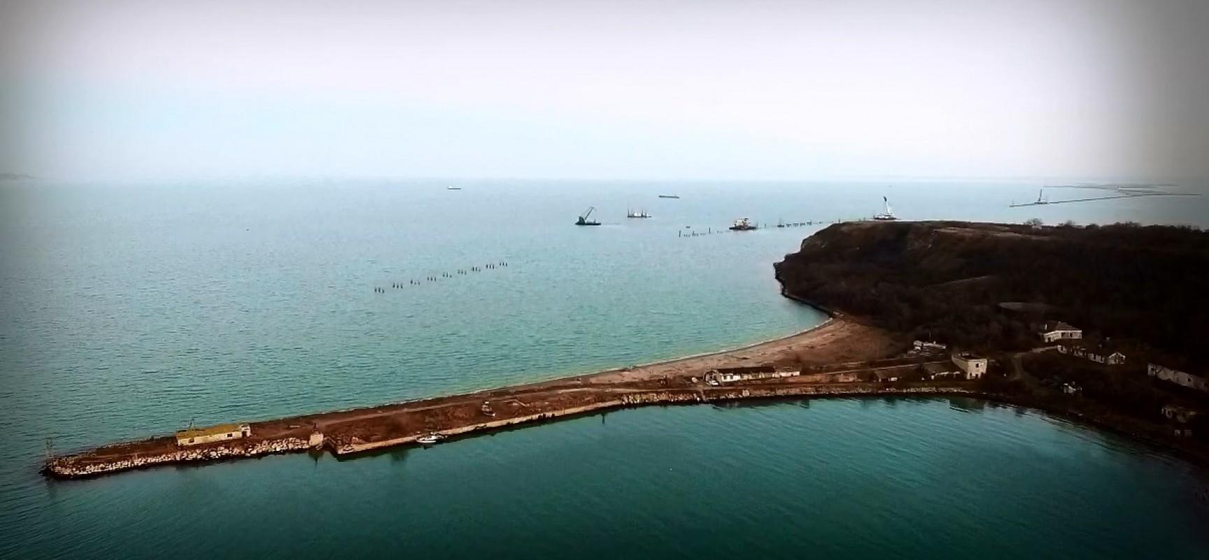 РМ-3. Керчь. Строительство моста через пролив 15.01.2016