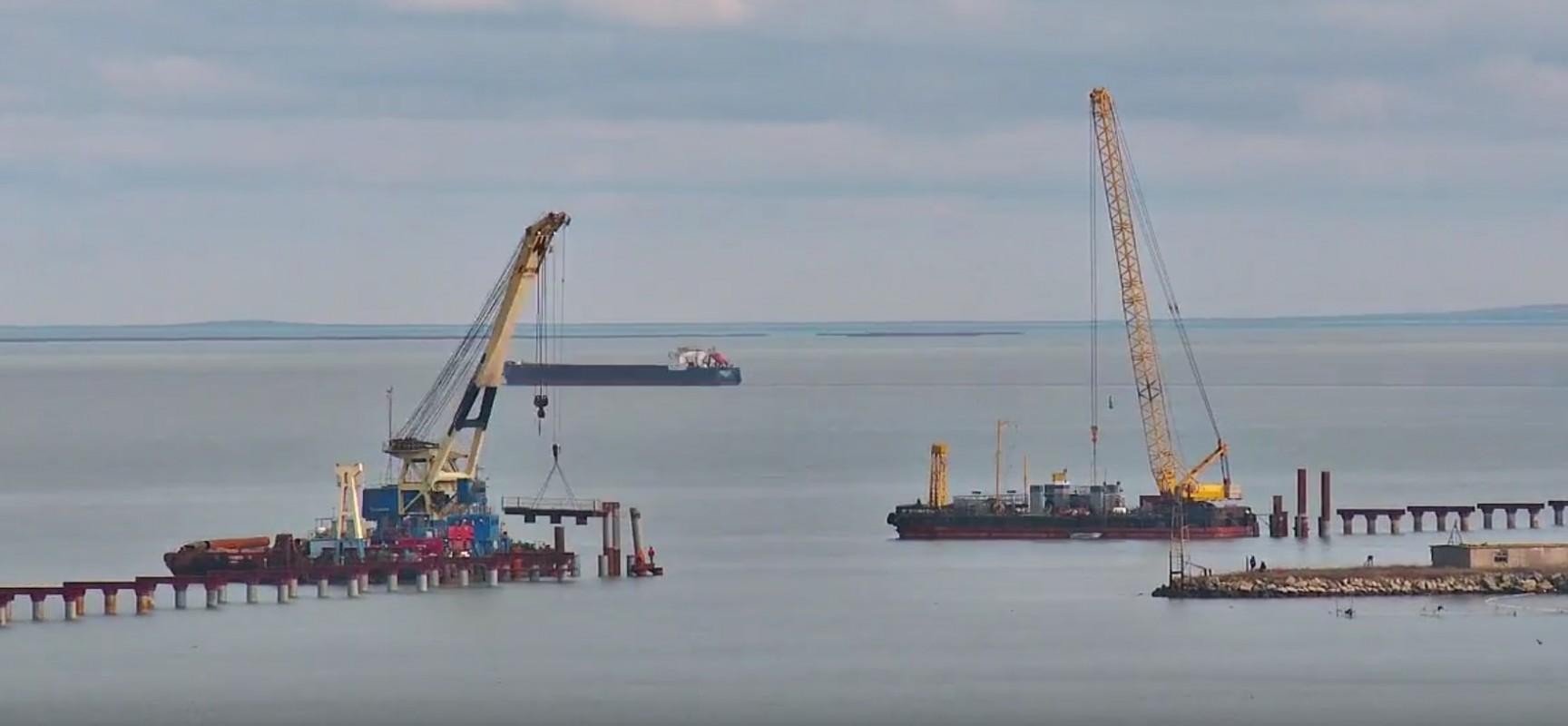 РМ-3. Керчь. Строительство моста через пролив 09.02.2016