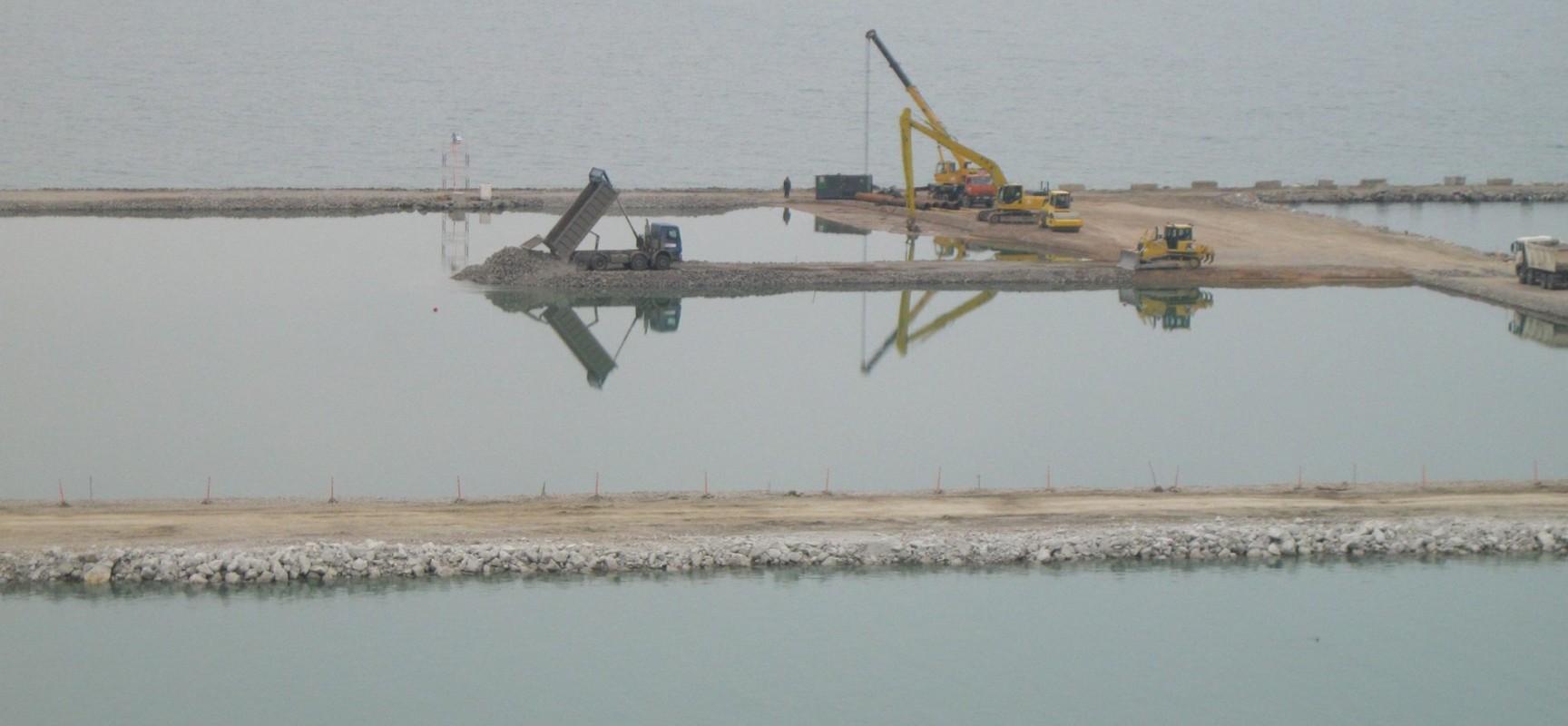 РМ-3. Керчь. Строительство моста через пролив. 3 марта 2016