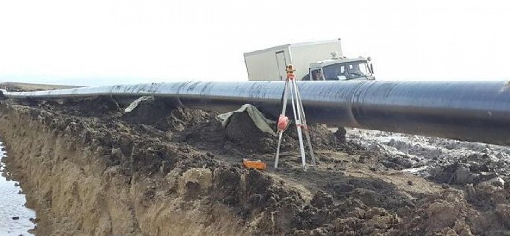 Схема магистрального газопровода Краснодарский край-Крым
