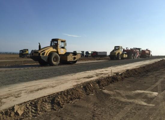 Тамань 2016, строительство подъездной дороги к Крымскому мосту (Фото)