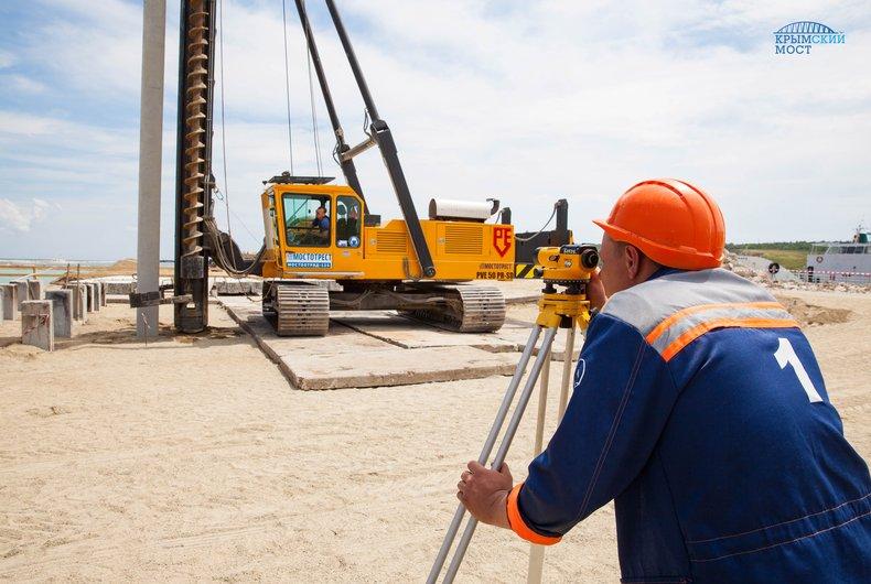 Использование буронабивных свай при строительстве Крымского моста