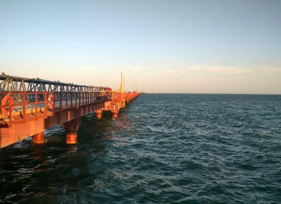 1800 свай установлены при строительстве Керченского моста