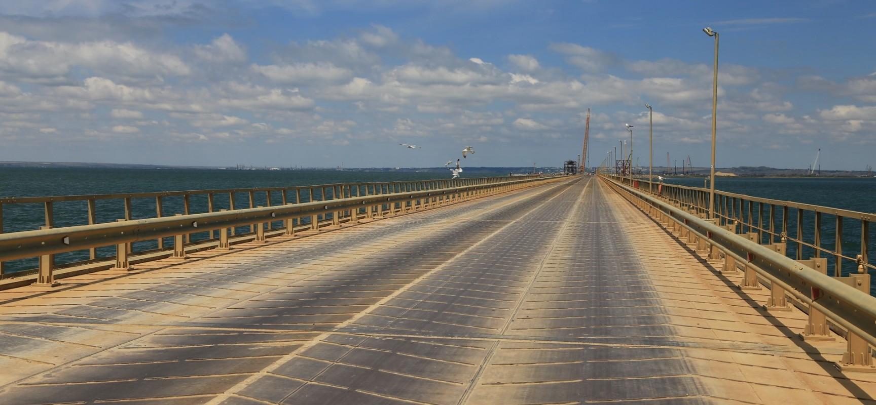 Временная инфраструктура строительства моста в Крым существенно снижает издержки проекта