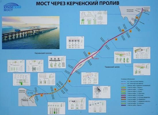 На первом участке строительства моста через Керченский пролив завершились свайные работы