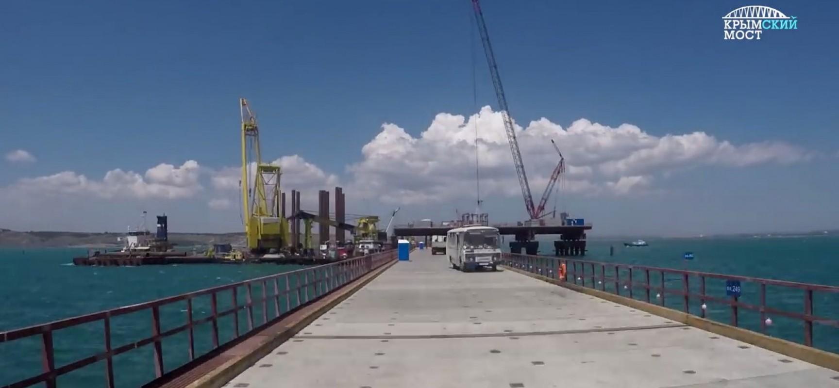 Керченский мост, готовность опор на Тузле, 20 июля 2016