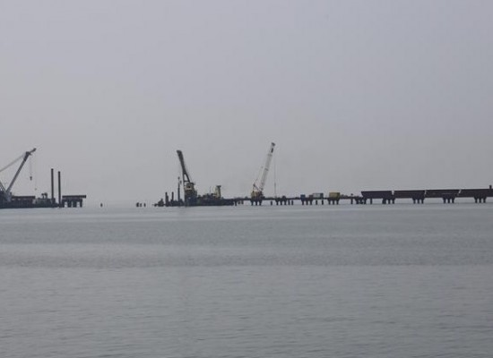 Керченские ветераны побывали вблизи строящегося моста через Керченский пролив