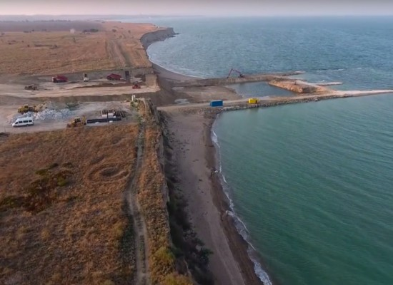 Магистральный газопровод Кубань – Крым, с высоты. Август 2016