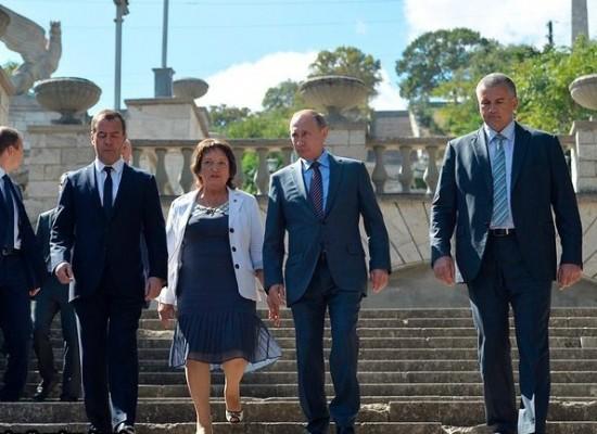 Владимир Путин отправился на стройплощадку Керченского моста
