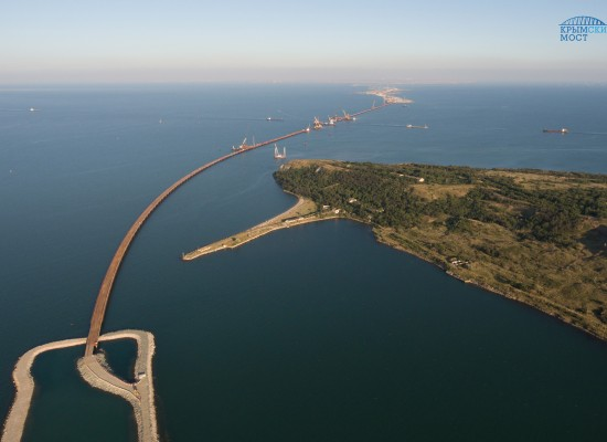 Завершено создание вспомогательной инфраструктуры строительства моста через Керченский пролив