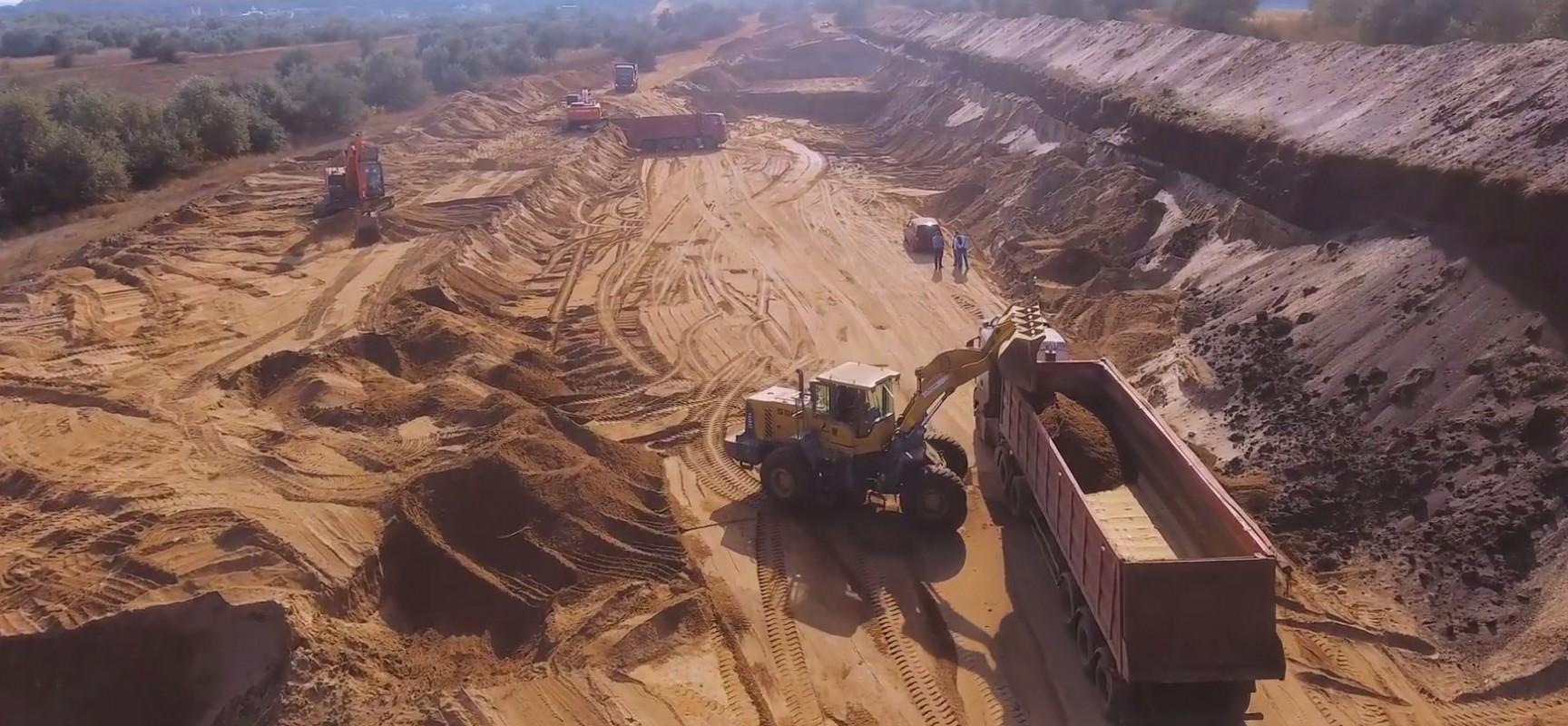 Песок из Нижне-Чурбашского хвостохранилища