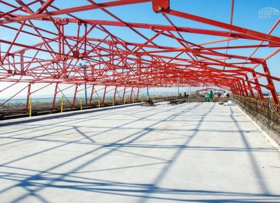 Строители сформировали первый участок плиты проезжей части моста через Керченский пролив