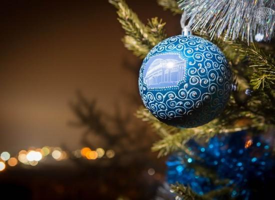 Строители моста через Керченский пролив посадили новогоднюю ёлку