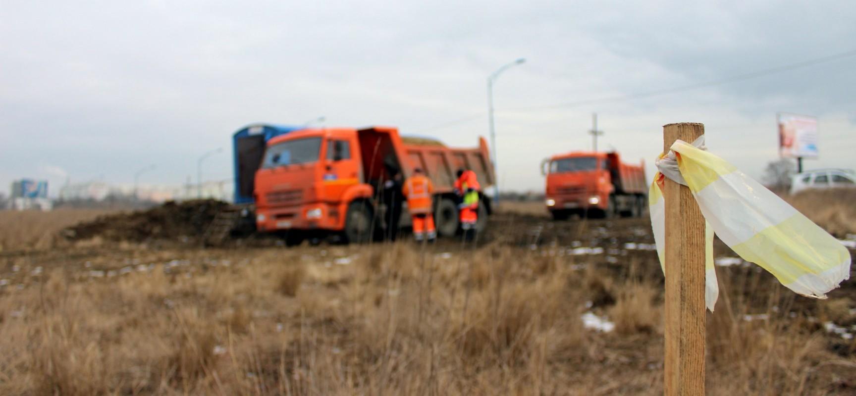Онлайн-трансляция строительства автоподходов к мосту через Керченский пролив