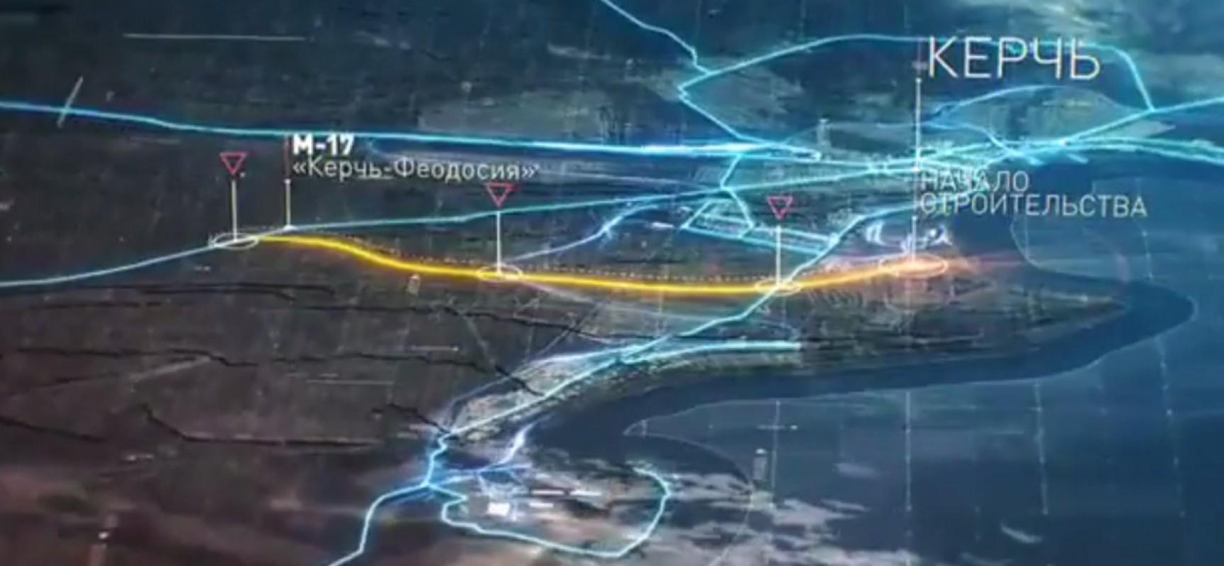 22 февраля 2017. В Крыму начались работы на месте будущих автомобильных подходов к переправе и трассы «Таврида»