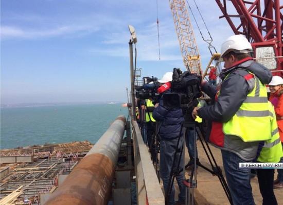 Пресс-тур на строящийся мост через Керченский пролив