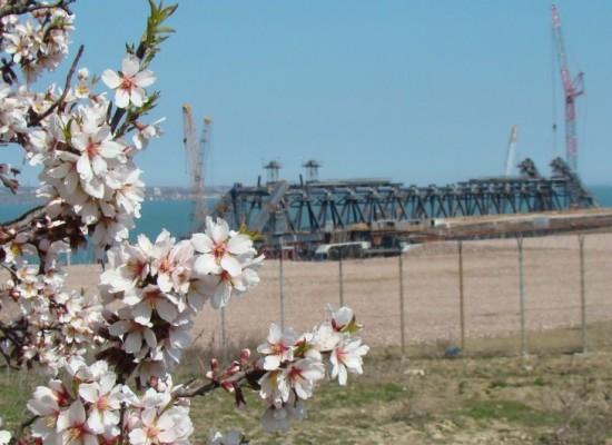 Готова половина опор моста через Керченский пролив