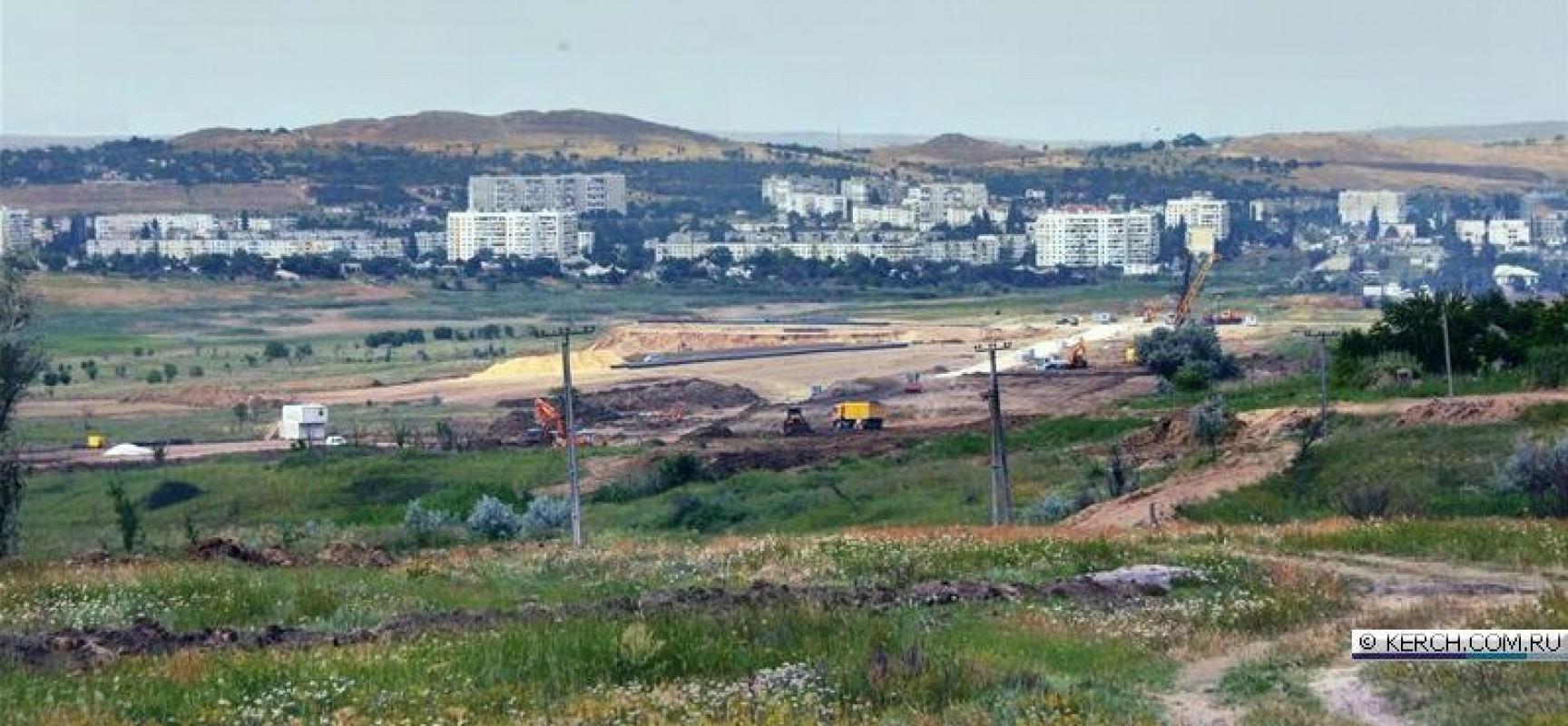 Керчь: Строительство путепровода между центром и Аршинцево с каждым днем набирает обороты