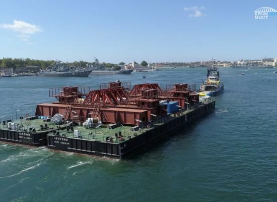 В Керчь прибыла первая плавопора для перевозки арок Крымского моста