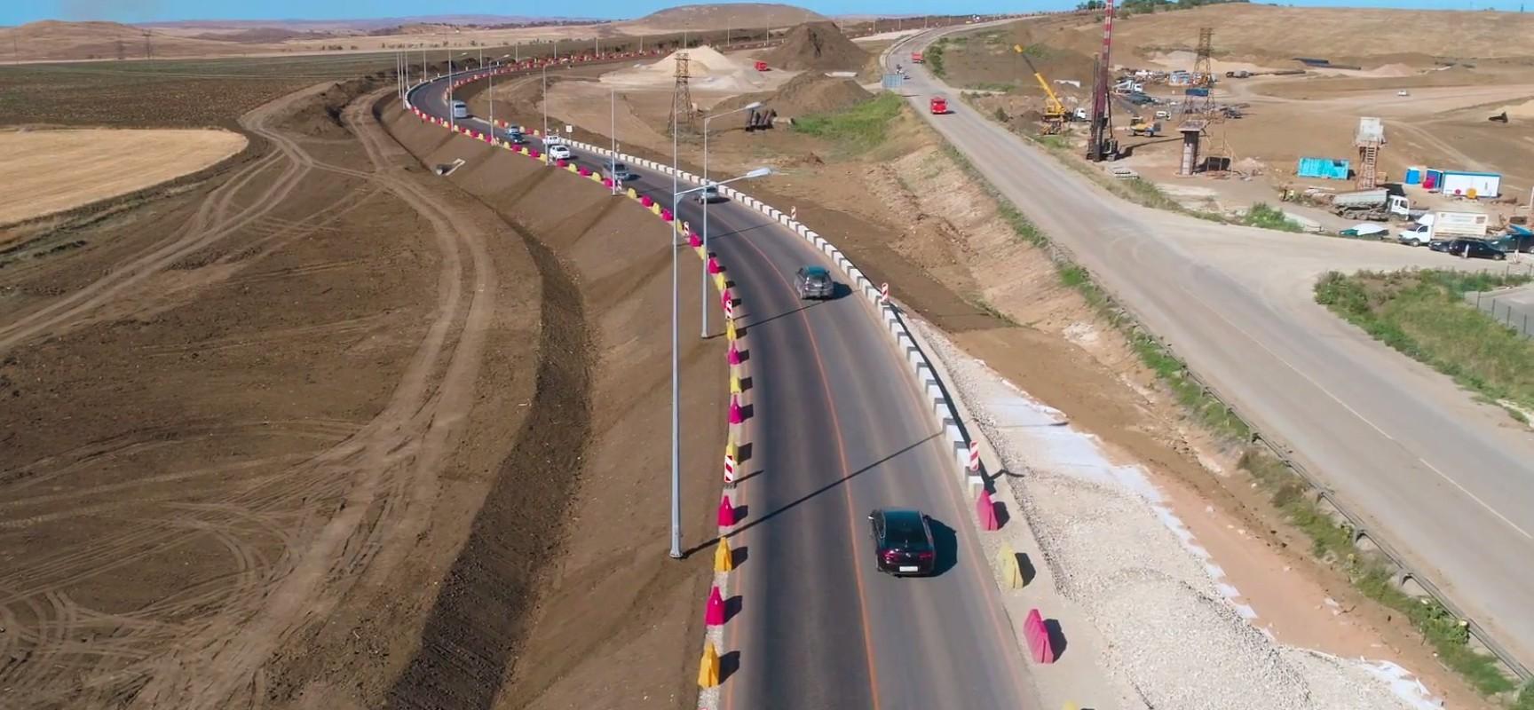 Трасса «Таврида». Развязка Керчь 9 километр с квадрокоптера,  август 2017