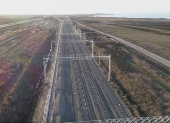 Строительство железной дороги-подхода к мосту со стороны Краснодарского края