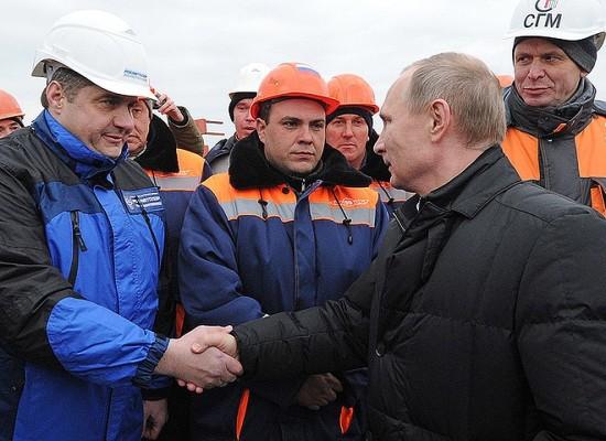 Путин прибыл на Керченский мост