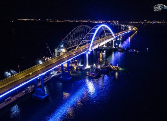 Включение архитектурной подсветки автодорожной арки