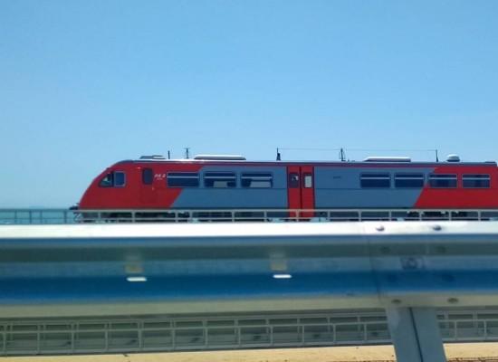 Первый тестовый поезд прошёл по Крымскому мосту!